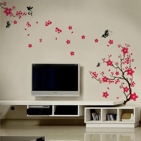 Walplus blossom flowers wall sticker collection next day delivery walplus blossom flowers wall sticker collection