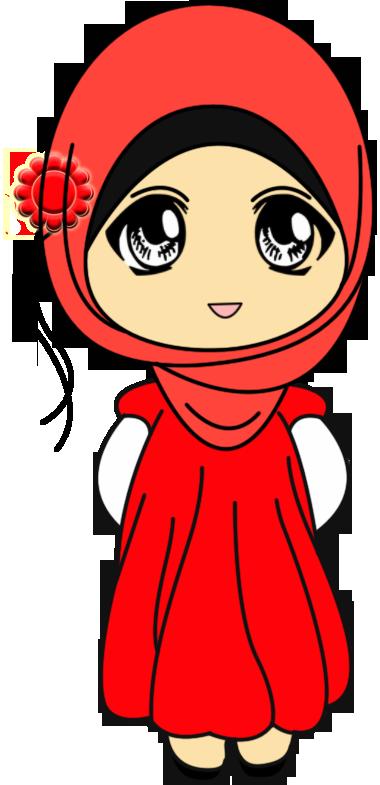 Freebies Doodle Muslimah Comel Gambar Karakter Animasi Seni Animasi