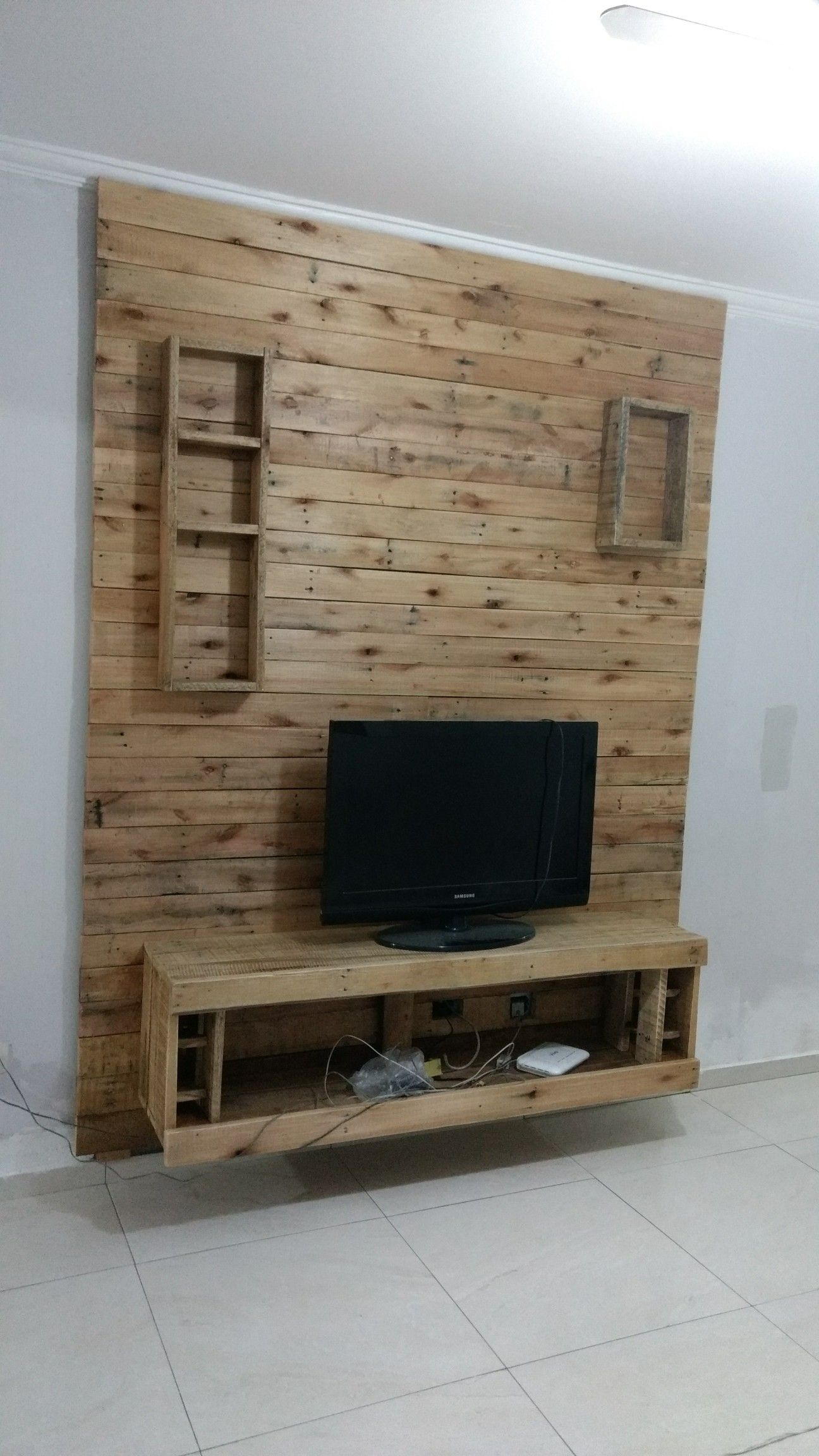 Tv Wand Pinterest Painel De Tv Feito Com Pallets Prod In 2019 Pallet Furniture