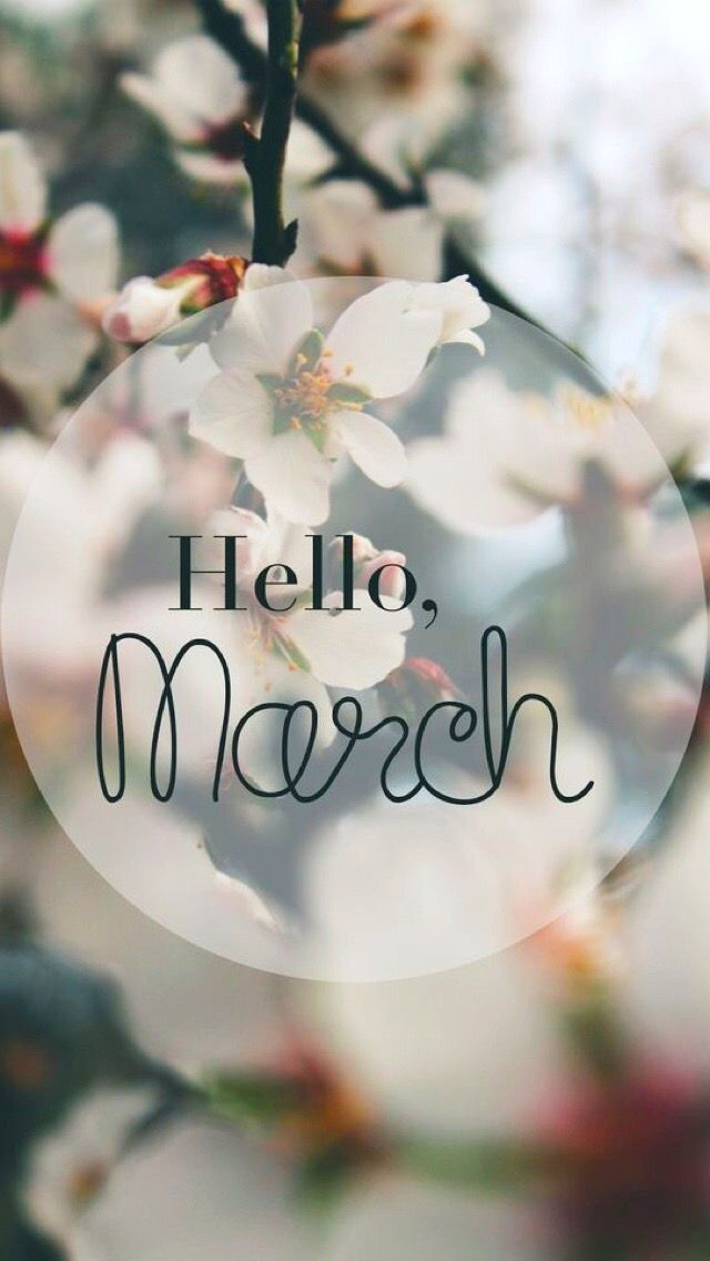 Wallpaper Iphone Spring Hello March In 2019 Hello March