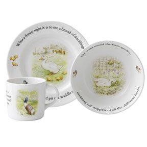Wedgwood Jemima Puddle Duck Baby Dishes | Gracious Style