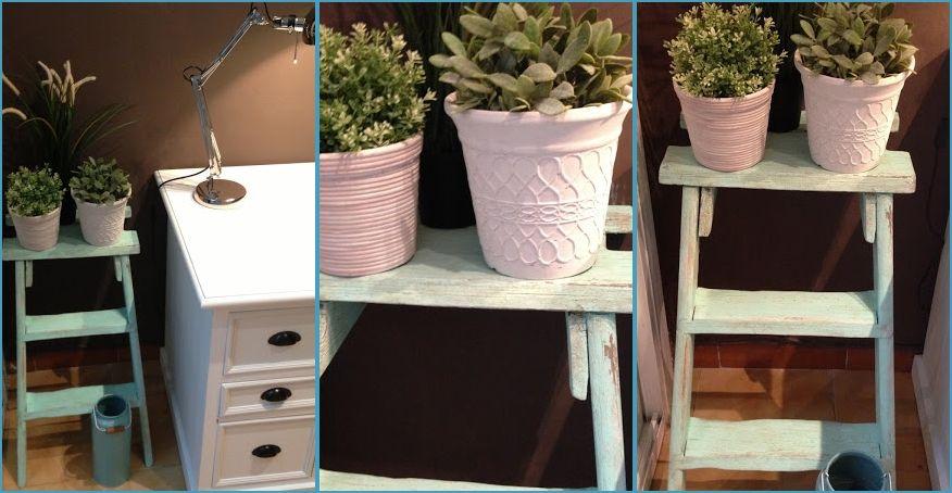 Cómo convertir una escalera de madea en un mueble auxiliar
