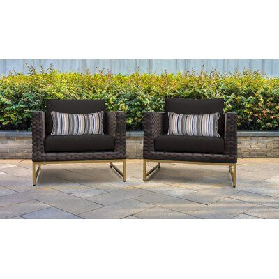 Darby Home Co Barcelona Patio Chair with Cushions | Wayfair