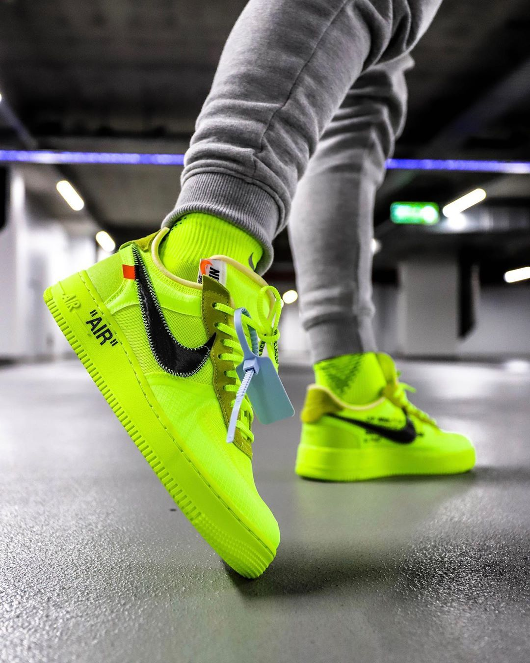 air force 1 jaune fluo femme