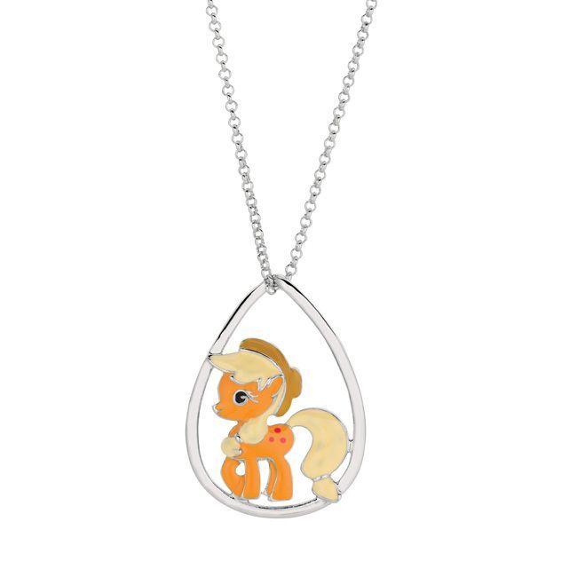 Fine silver plated apple jack my little pony pendant necklace fine silver plated apple jack my little pony pendant necklace womens size 18 inch beige apple jacks mozeypictures Images