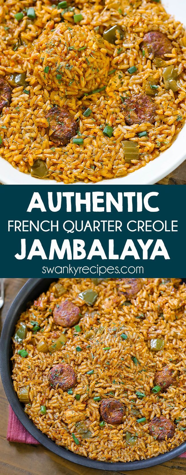 Creole Chicken and Sausage Jambalaya {From a NOLA Local} - Swanky Recipes
