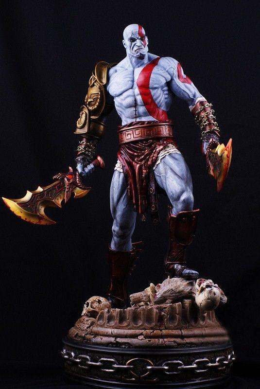 God Of War Kratos Lunging Statue God Of War Kratos God Of War Kratos Action Figure