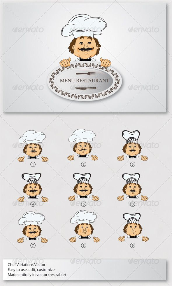 Chef Mascot Vector Font logo - visitor sign in sheet template