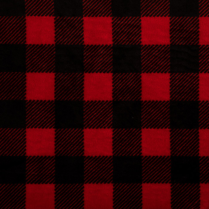 Get Red Black Buffalo Check Velvet Fleece Fabric Online Or Find Other Micro Fleece Fabric Products From Hobbylobby Com