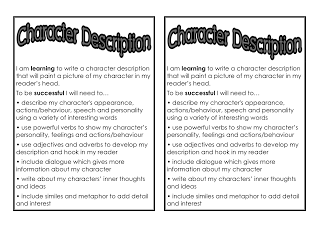 description activities for writing