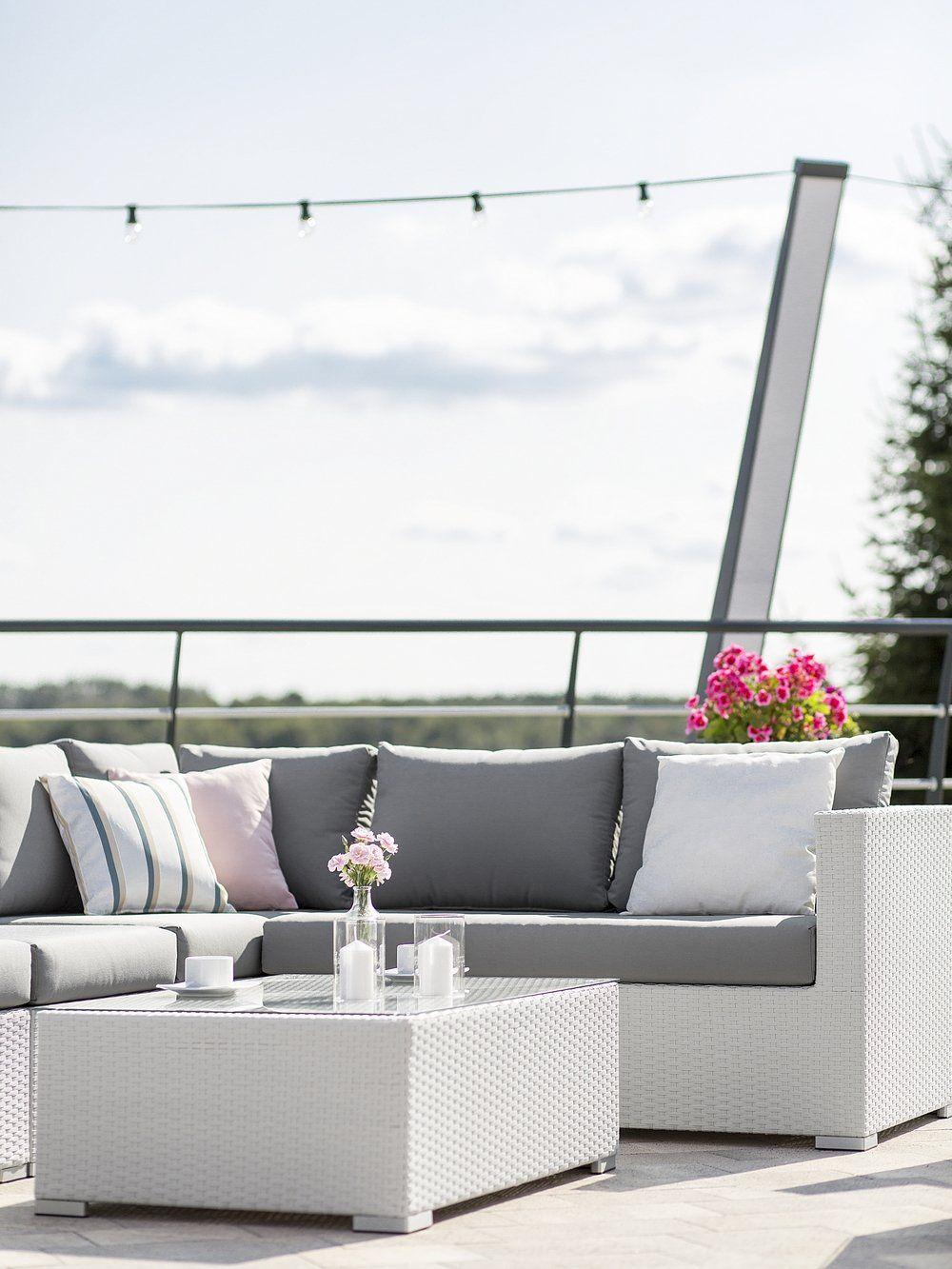 Set Giardino Rattan Bianco.Zestaw Ogrodowy Rattanowy 8 Osobowy Bialy Xxl Outdoor Lounge Set Patio Furniture Covers Outdoor Furniture Sets