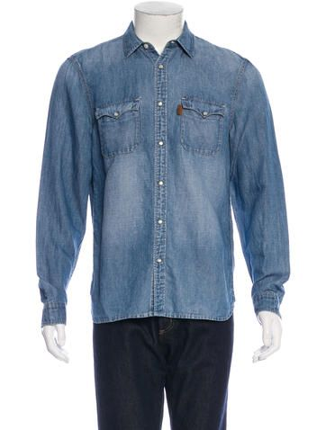 Burberry Brit Chambray Button-Up Shirt