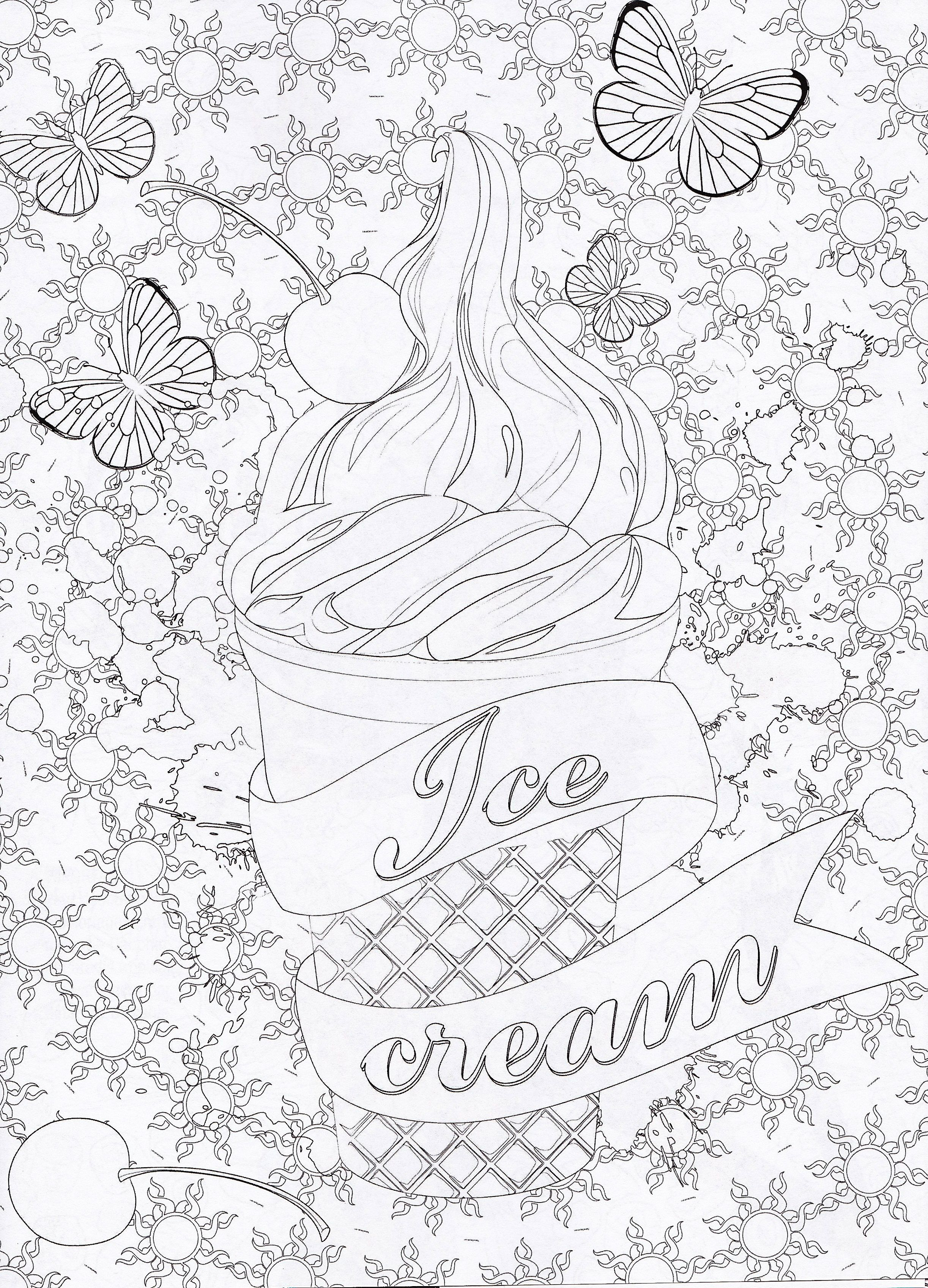 Magazine coloriage zen n 1 coloriage ice cream cupcakes gourmand kleurig pinterest - Coloriage therapie ...