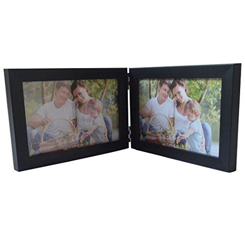 Giftgarden® 10x15 Cornice Foto Doppia in Legno Pieghevole