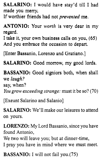 Merchant Of Venice Act 1 Scene Translation Meaning Annotation 4 Http Www Aplustopper Com Ve English Reading Meant To Be Literature Paraphrase Pdf Download