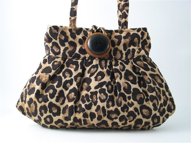 SMALL AND SEXY LEOPARD PLEATED BAG by daphnenen on Etsy, $65.00
