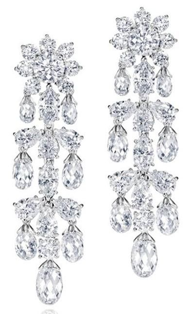97e168f09f262 Harry Winston Shinde Briolette Earrings. 48 briolette, round, pear ...
