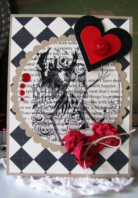 jack  sally valentine using an old book page  valentine
