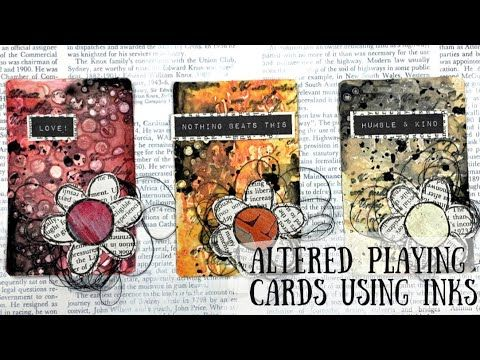 Process Video | Altered playing cards with gesso and inks
