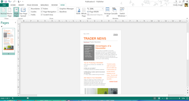 office templates publisher