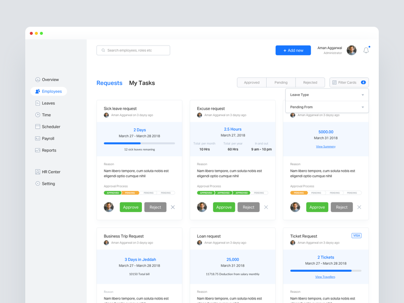 Manage Leave Requests