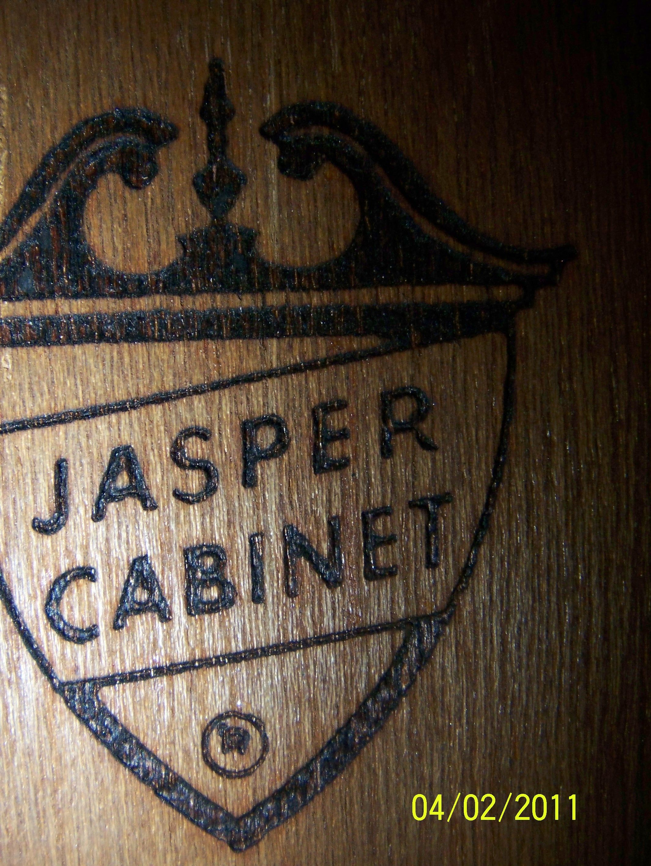 Jasper Cabinet Company, Display Cabinet With Glass Shelves, Mirrored Back,