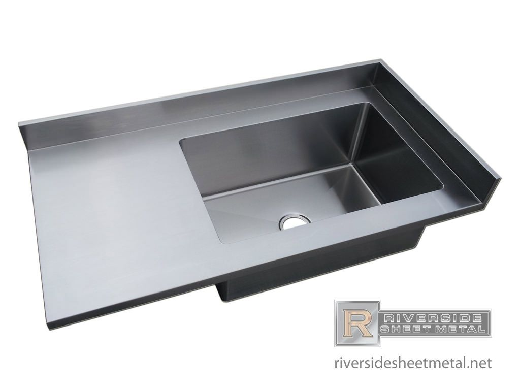 Stainless Steel Counter With Sink Number 4