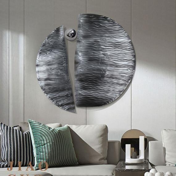 Light Luxury Creative Living Room Wall Pendant Modern Etsy In 2021 Geometric Wall Decor Creative Living Modern Wall Decor