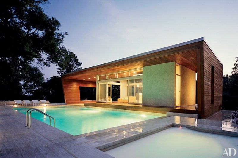 Swimming Pool - Guest House - Home Design | Modern, Modern ...
