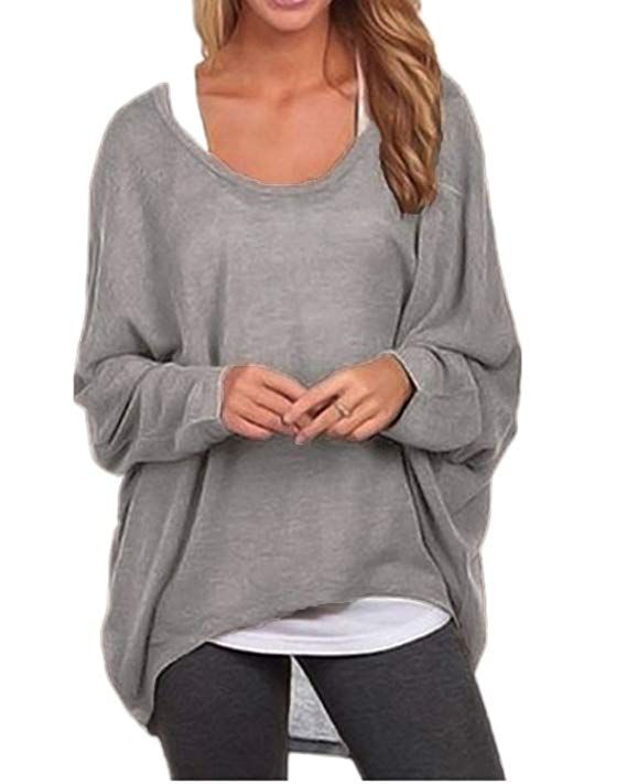 1399  1799 ZANZEA Womens Batwing Sleeve Off Shoulder Loose Oversized Baggy Tops Sweater Pullover Casual Blouse TShirt Please Refer To The Size Details Before You Purchase...