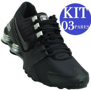 b9e2712d945 KIT 03 Tênis Nike Shox