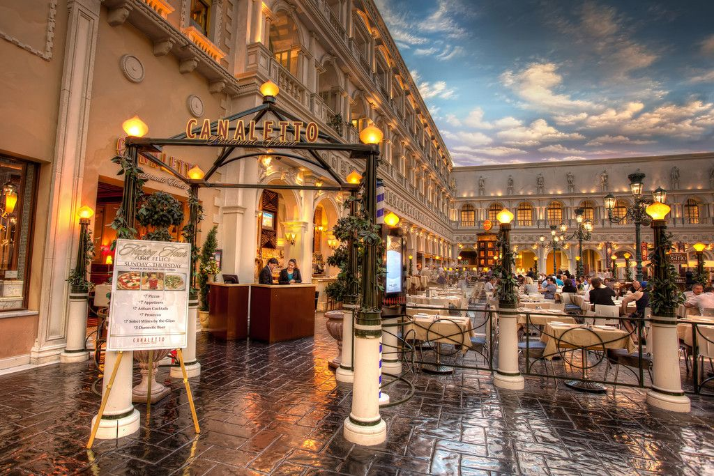 Canaletto Restaurant In The Venetian Hotel Arranged Through