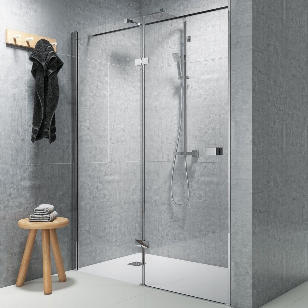 Chrome Left Hand Hinged Shower Enclosure 1000mm Kaso 8 Star By Voda Design 8mm Thick With Images Shower Enclosure Glass Enclosure Shower Doors