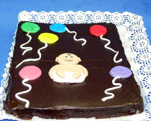 Brownie para celebrar el nacimiento de Bruno