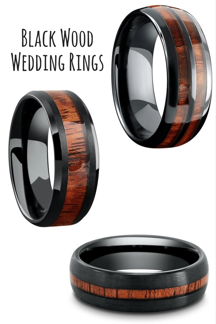 Mens black tungsten wedding rings Durable and waterproof A wedding