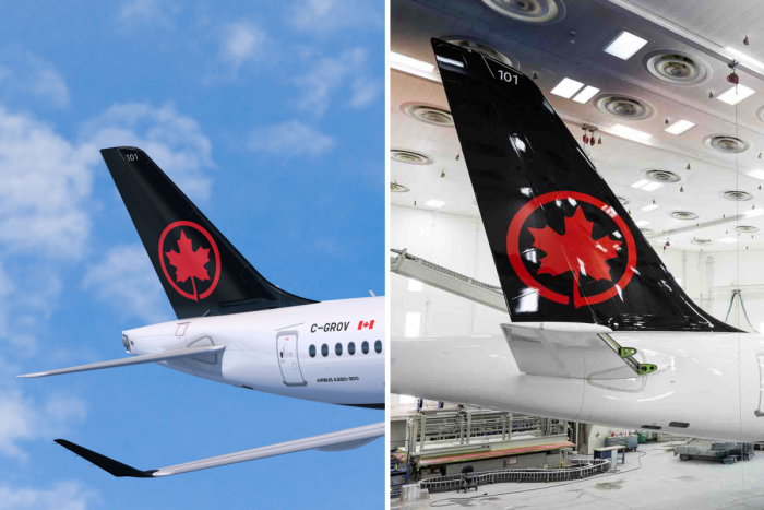 Air Canada's Brand New Airbus A220 Has Been Repainted