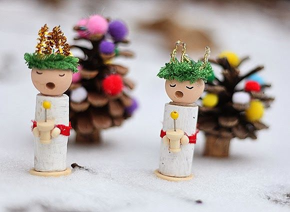 The Pickled Herring Scandinavian Christmas Day 7 Scandinavian Christmas Wine Cork Crafts Christmas Christmas Ornaments