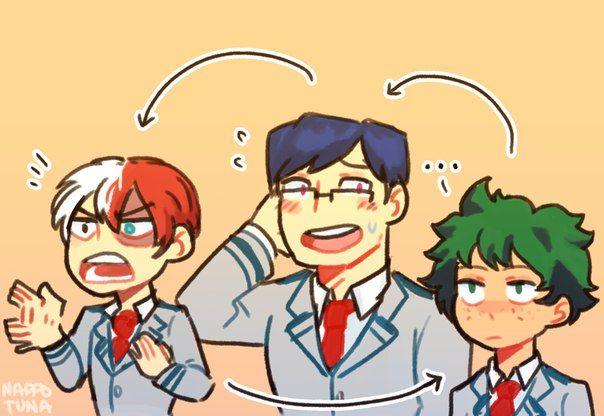 Todoroki, Iida, Midoriya personality swap - this is