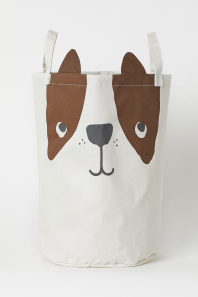 Printed Storage Basket - Natural white/dog - Home All | H&M US