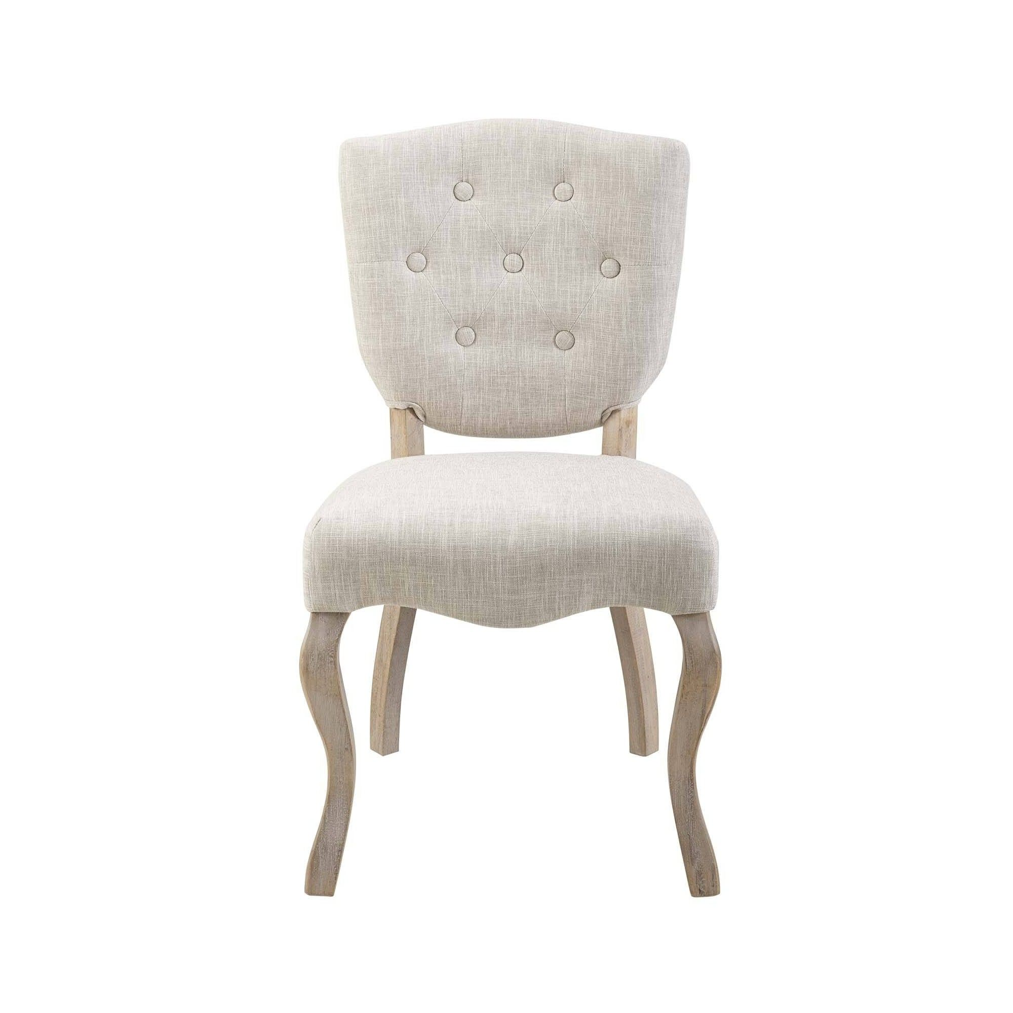 Array Vintage French Upholstered Dining Side Chair Beige ...