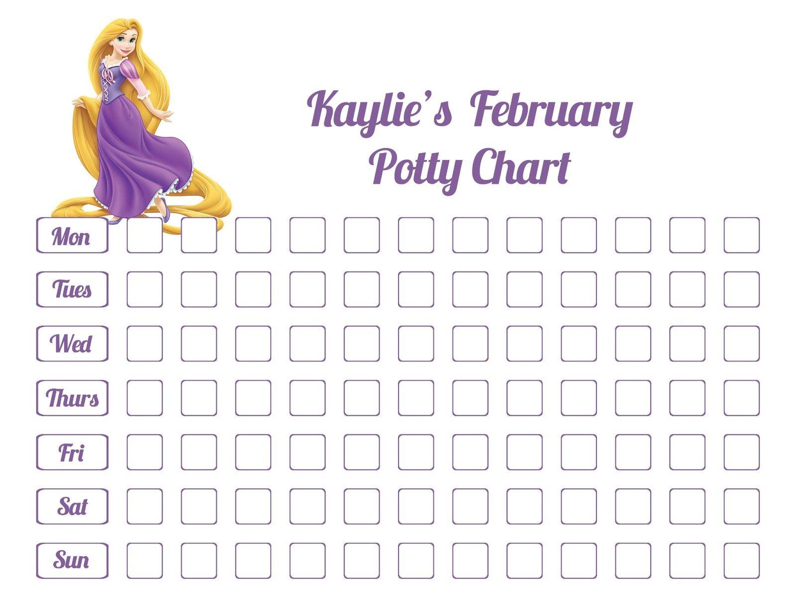 Potty Chart for Little Girls   Kiddo Shelter   Printable Reward ...