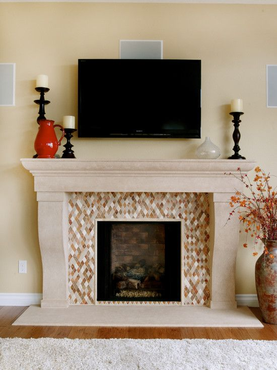 Mosaic Tile Fireplace Design Pictures Remodel Decor And Ideas Page 2