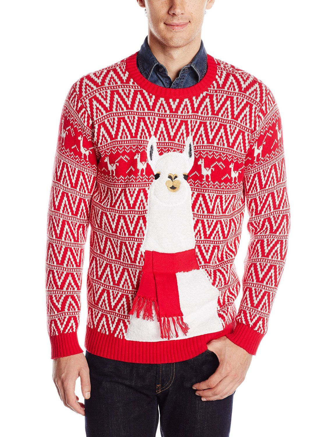 Blizzard Bay Men's Festive Llama Ugly Christmas Sweater at Amazon Men's Clothing store: