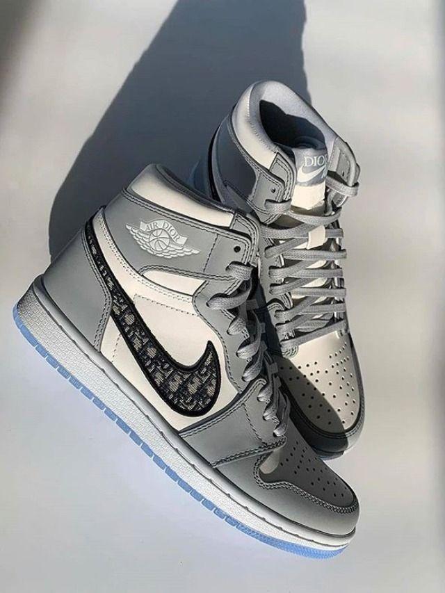 Nike Dior x Air Jordan 1 High OG CN8607 002 in 2020 | Nike fashion ...