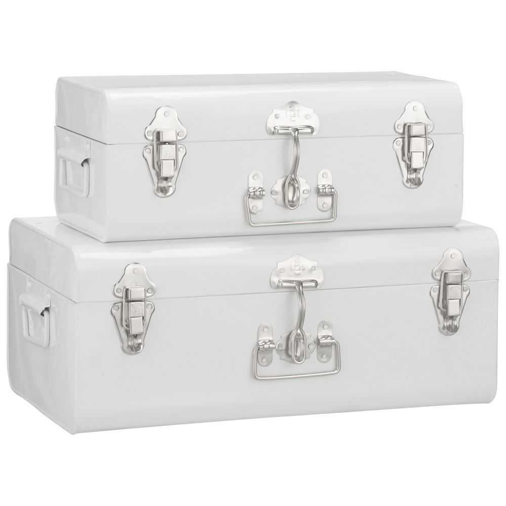 mini trunk storage for bedrooms | Homegirl London finds galvanised storage trunks . Available in white .  sc 1 st  Pinterest & mini trunk storage for bedrooms | Homegirl London finds galvanised ...