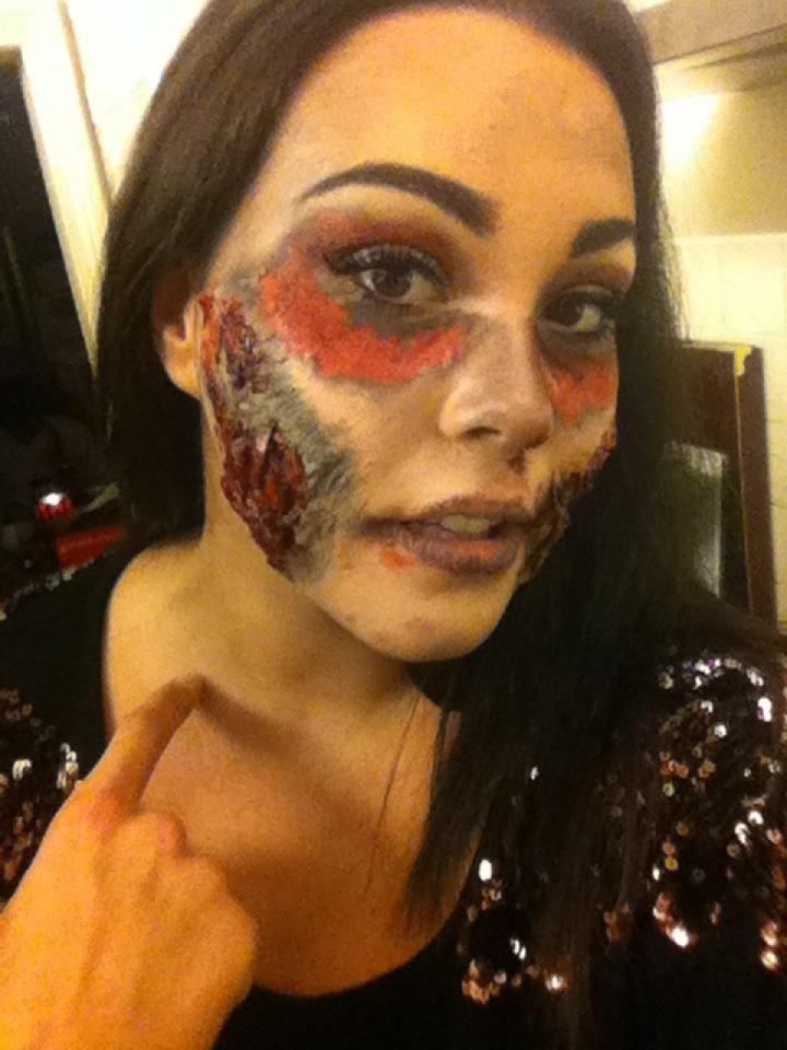 hallooween, scary, makeup, nightout, wound, scar, blood, scabs ...