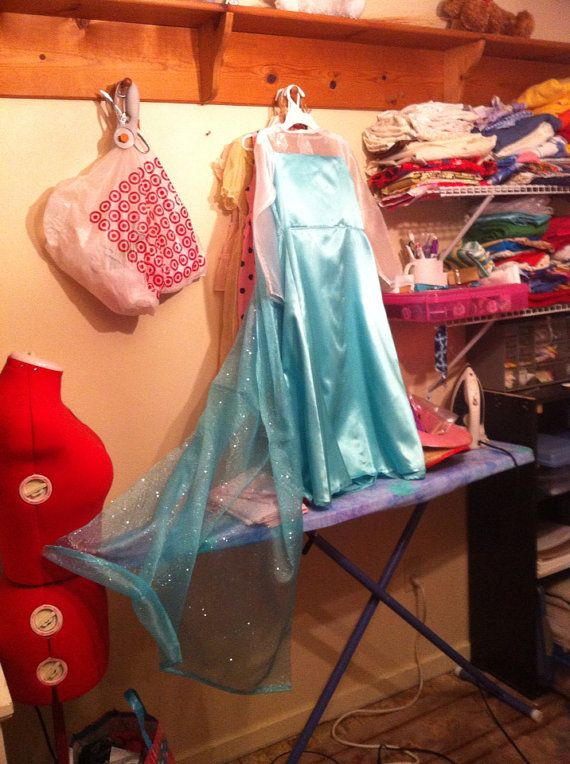 Reserved For Duchess MTO Elsa Costume SATIN Girls 2-12