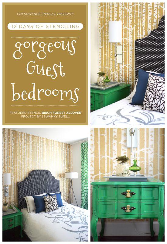 Nightstand | Bedroom | Pinterest | Stenciled accent walls, Birch ...