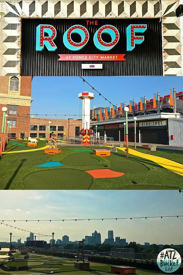 The Roof At Ponce City Market Will Open Summer Of 2016 Get Ready For Some Amusement Park Rides And A Beer Garden Ponce City Market Atlanta City Market Ponce