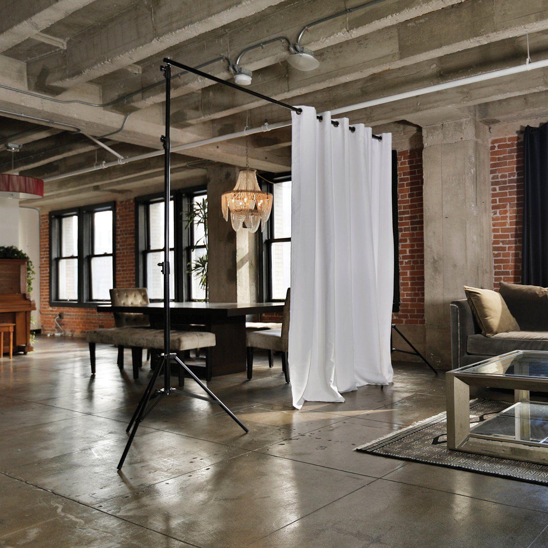 RoomDividersNow Freestanding Adjustable Room Divider Stand Medium